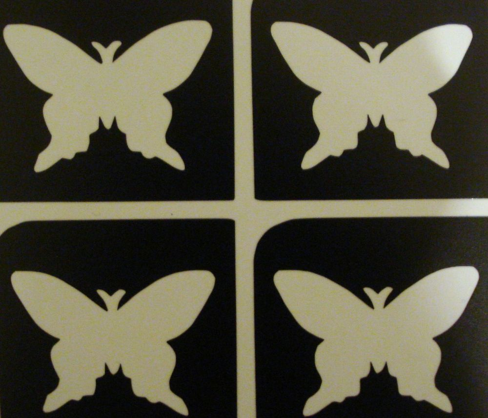 5 SHEETS OF 4 STENCILS - MINI BUTTERFLY